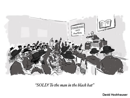 auction cartoon by David Hochhauser