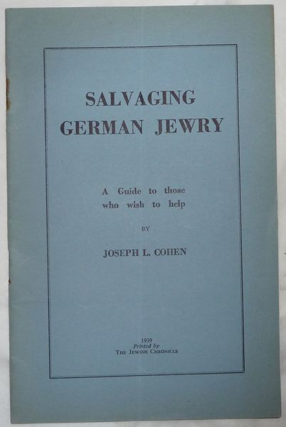 Salvaging German Jewry