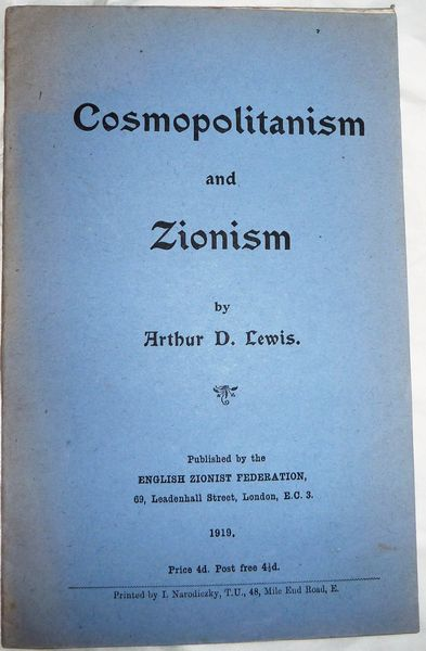 Cosmopolitanism and Zionism